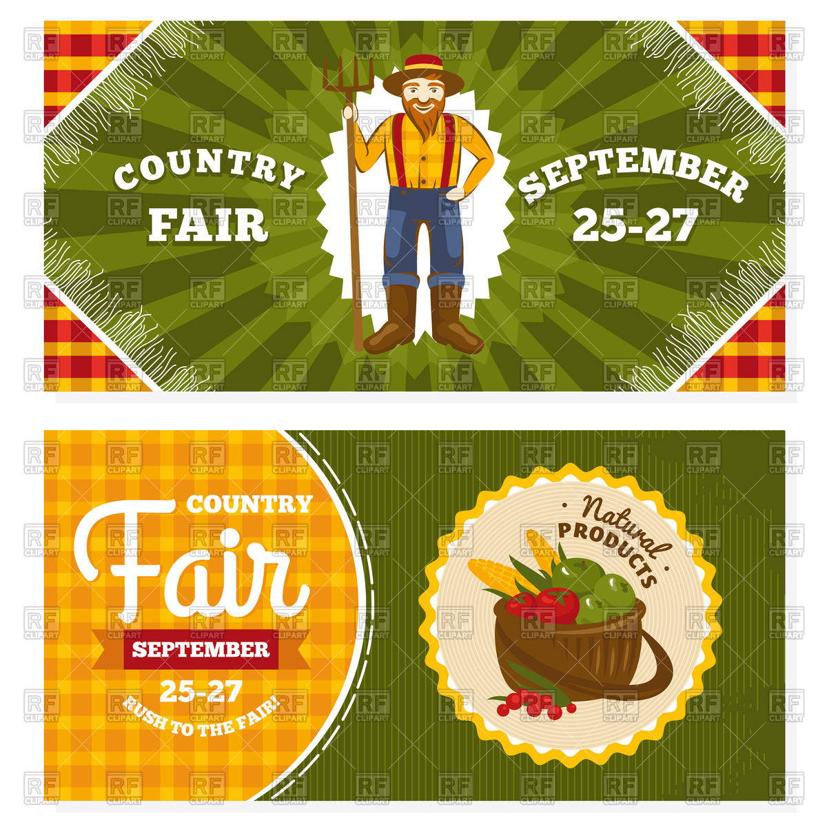 Country Fair   Vintage Invitation Cards 93709 Download Royalty Free