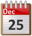 December 25   Http   Www Wpclipart Com Time Calendar 12 December