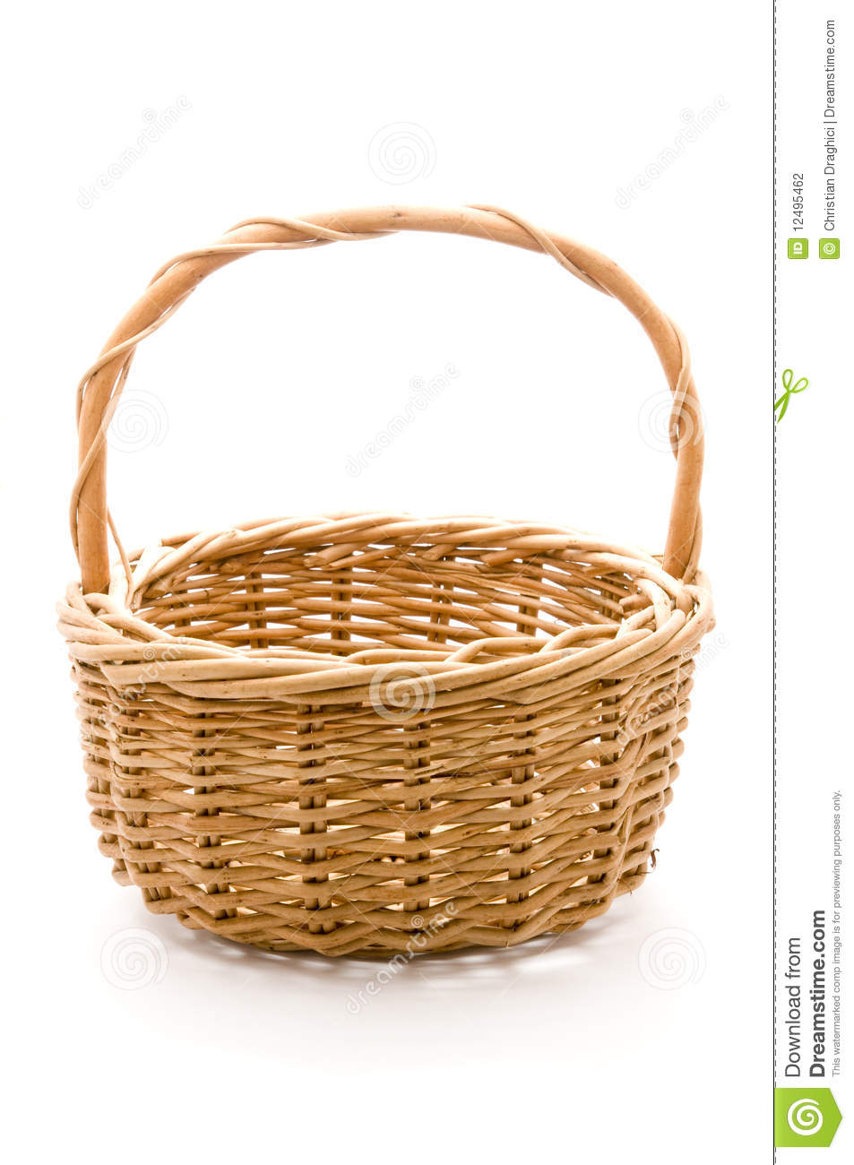Empty Fruit Basket Clipart Empty Basket Isolated On A