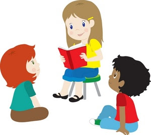 Family Reading Fiesta Clipart
