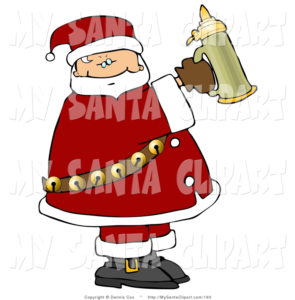 Royalty Free December 25 Stock Santa Clipart Illustrations