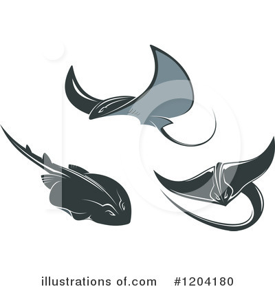 Stingray Clipart  1204180 By Seamartini Graphics   Royalty Free  Rf