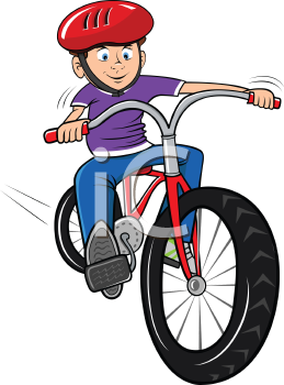 Boy On Bicycle Clipart - Clipart Kid