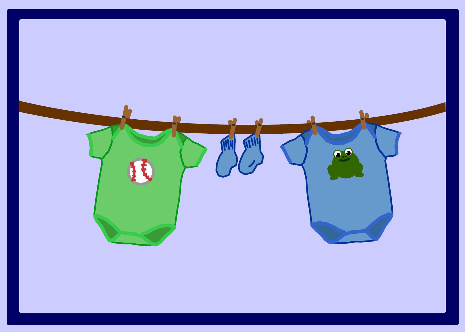 Empty Laundry Basket Clipart Clothes Line Clipart -...