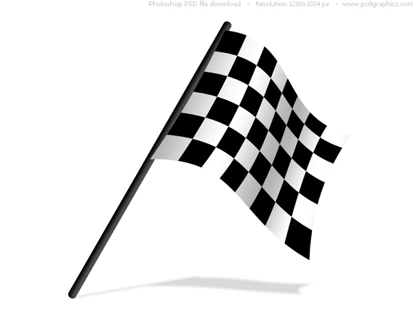 Checkered Flags Psd Icon   Psdgraphics