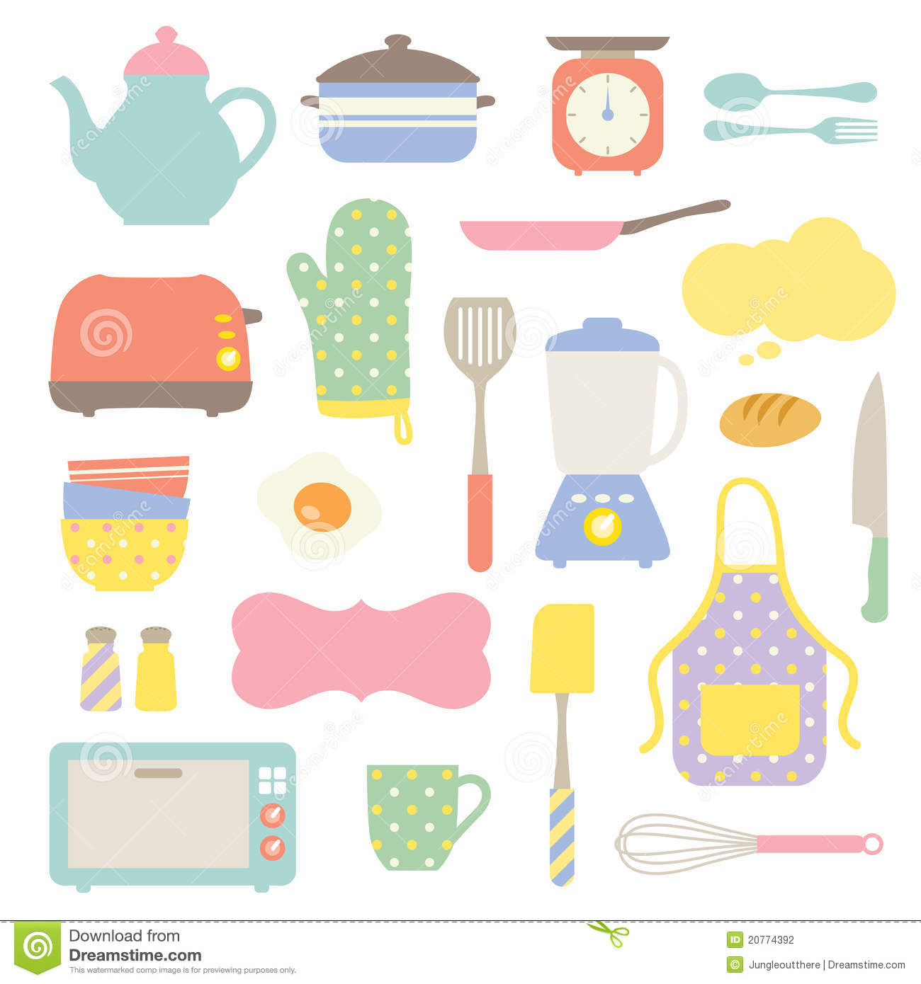 Cute Cooking Utensils Clipart Cute Kitchen Collection Prirtb Clipart Suggest