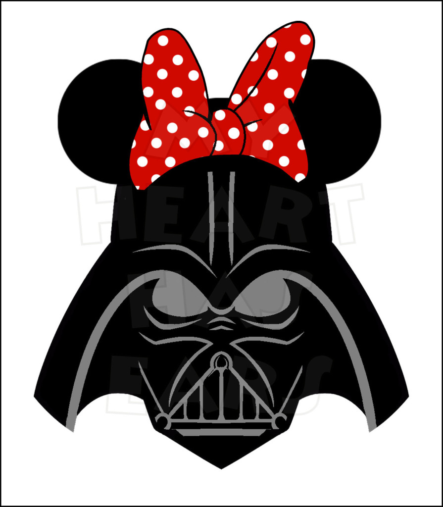 Darth Vader With Minnie Mouse Ears Instant Download Digital Clip Art