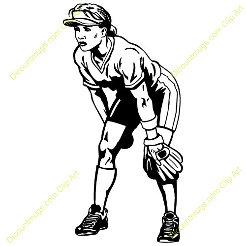 Girls Softball Team Clipart Clipart 14304 Girlsoftball
