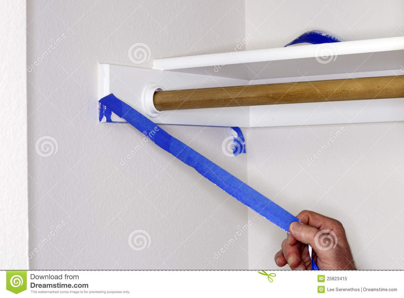 Hand Peeling Painter S Tape Royalty Free Stock Photo   Image  25823415