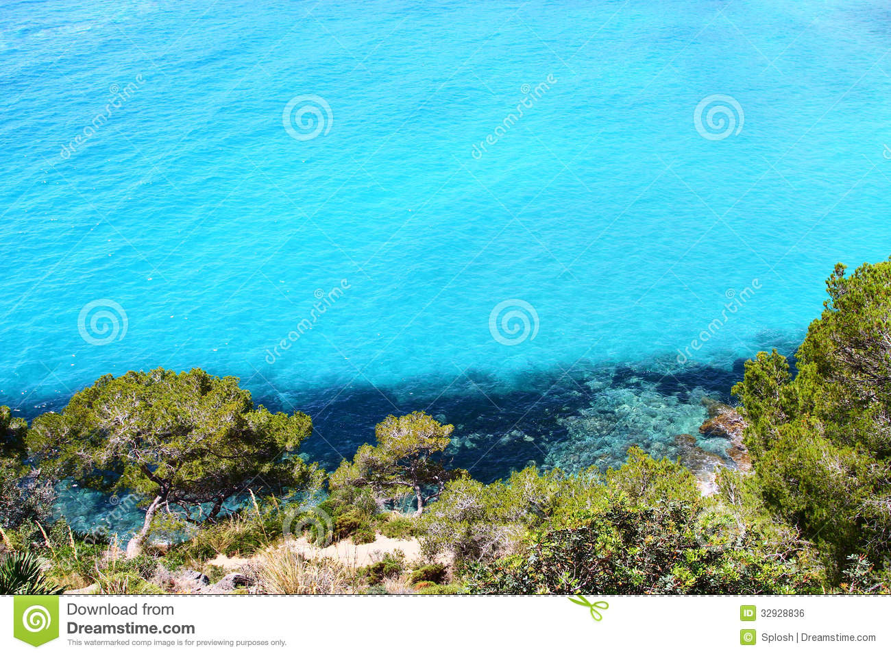 Island Cliffs And Turquoise Sea Water Royalty Free Stock Image   Image