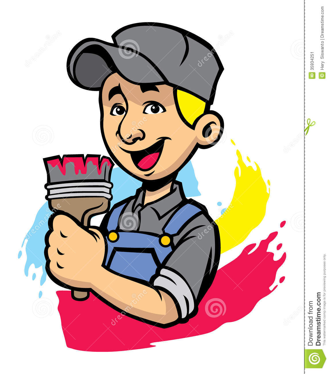 Painter Man Stock Image   Image  35934251