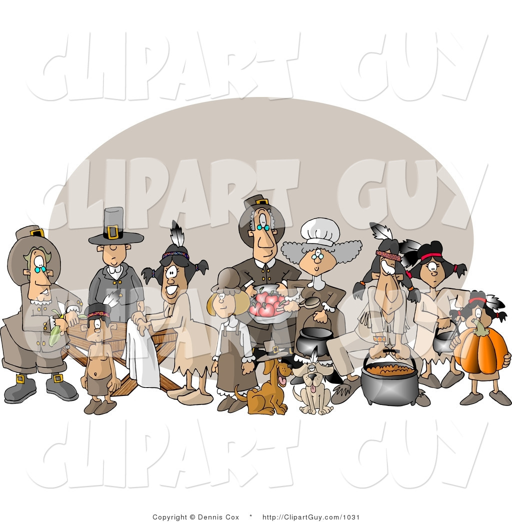 People At Thanksgiving Dinner Feast Royalty Free Clip Art   Male