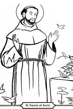 Pray Learn Saints On Pinterest   Coloring Pages Catholic And Cathol