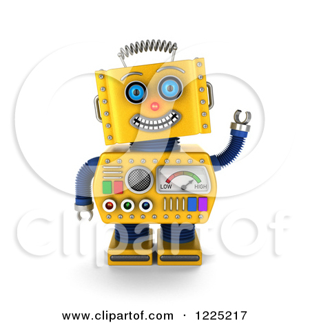 Royalty Free  Rf  Yellow Robot Clipart Illustrations Vector Graphics