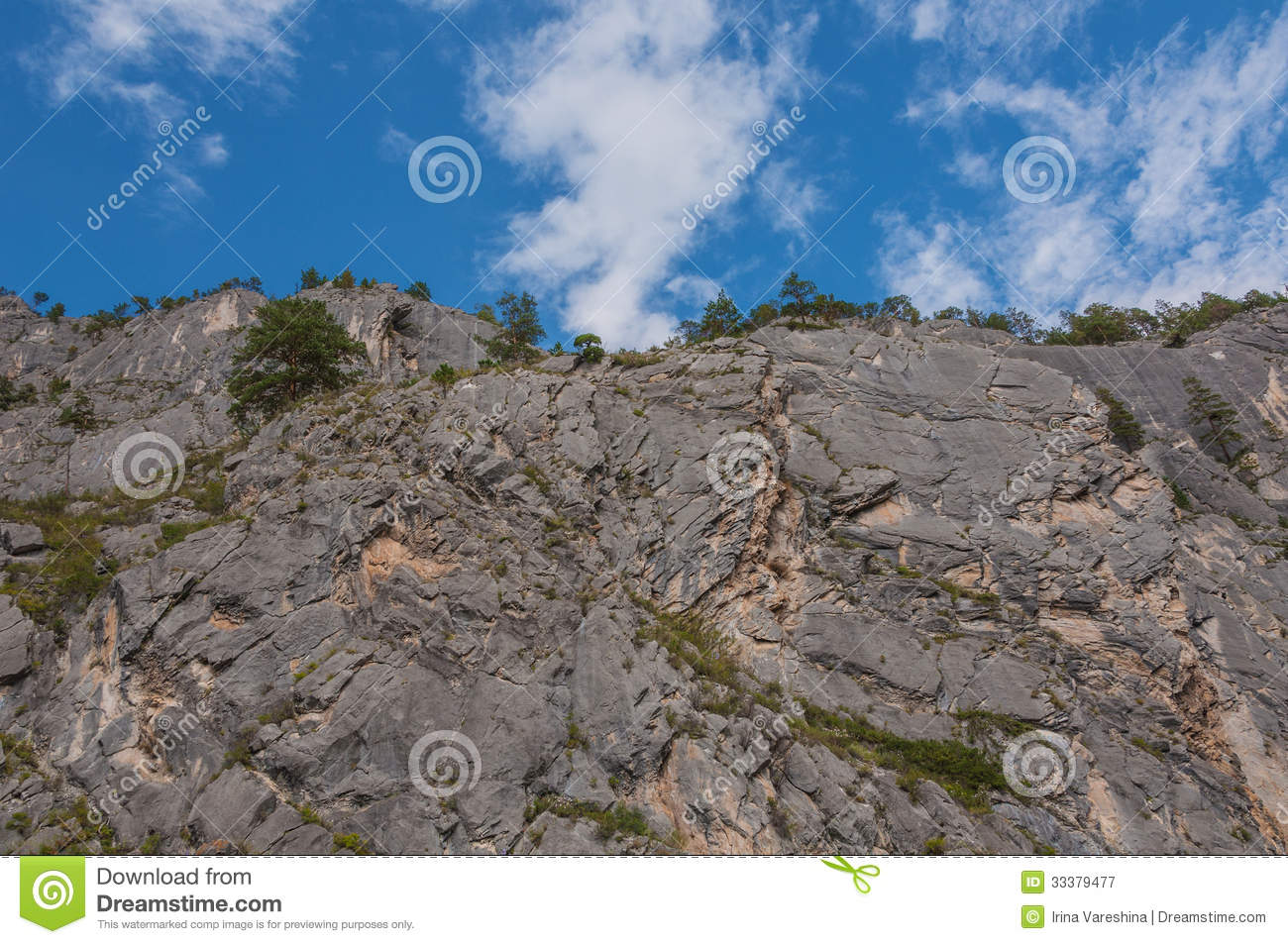 Steep Cliffs Trees Top Rocks Royalty Free Stock Photography   Image