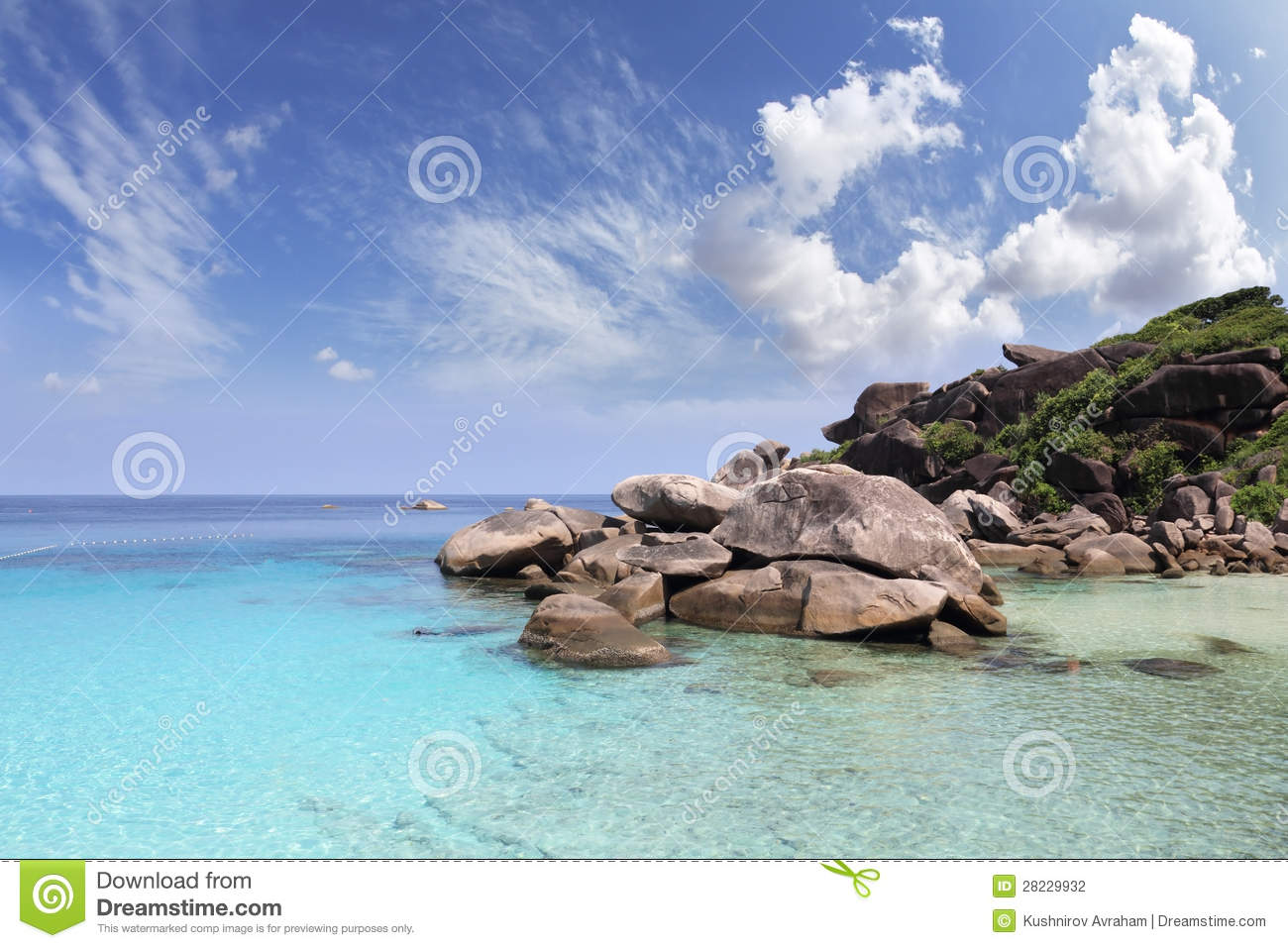 The Picturesque Similan Islands  Scenic Cliffs And Clear Azure Water