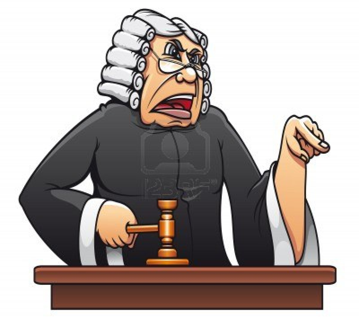10859198 Judge With Gavel For Law Concept Design In Cartoon Style