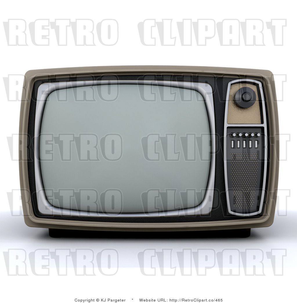 3d Television 1 Retro Royalty Free Clipart By Kj Pargeter    465