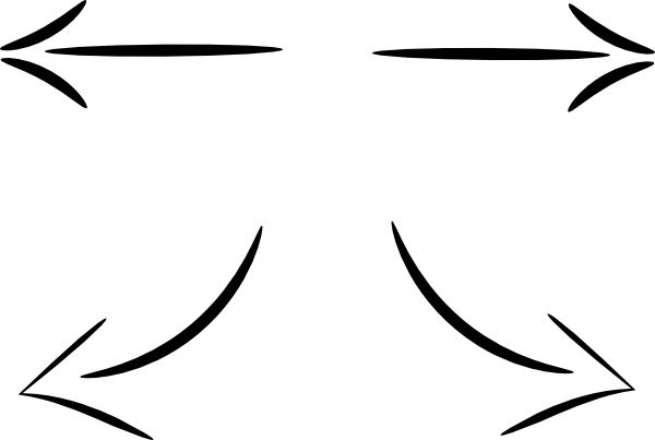 hand write arrow vector clip