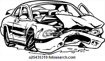 Car Auto Automobile Wreck Crashed  Fotosearch   Search Clipart