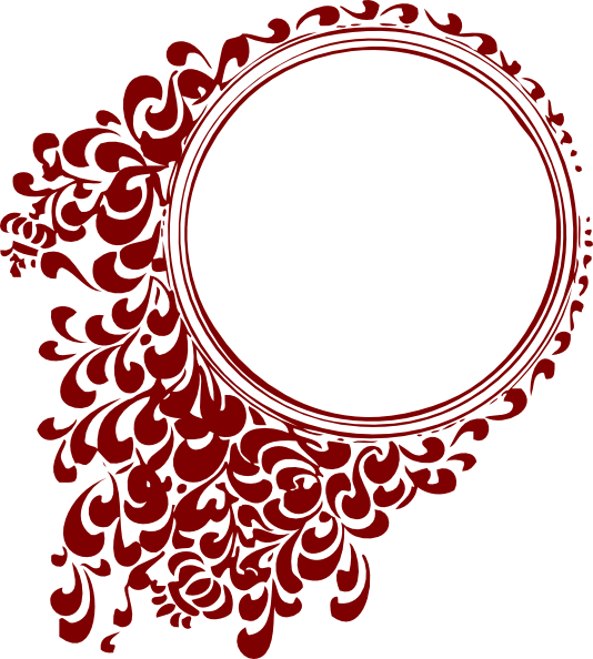 deep red circle frame clip art at clker com vector clip art online