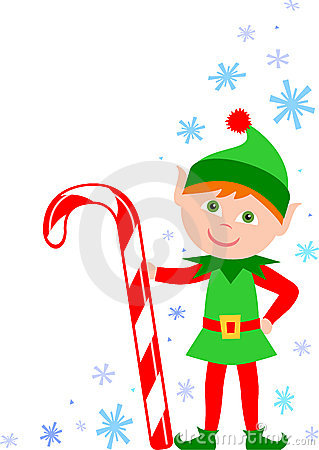 Elf With Candy Cane Eps Royalty Free Stock Photo   Image  16417285