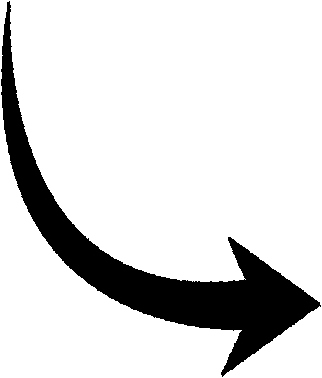 black curved arrow clipart clipart suggest