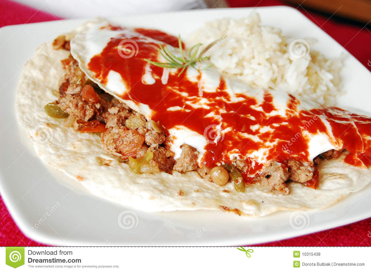 Mexican Minced Meat Tortilla Royalty Free Stock Photos   Image