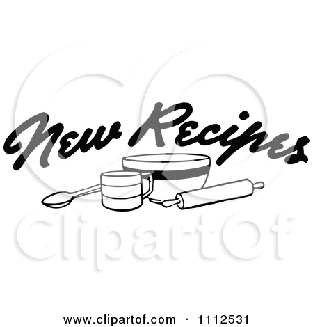 Recipe Clip Art Black And White Clipart Black And White New