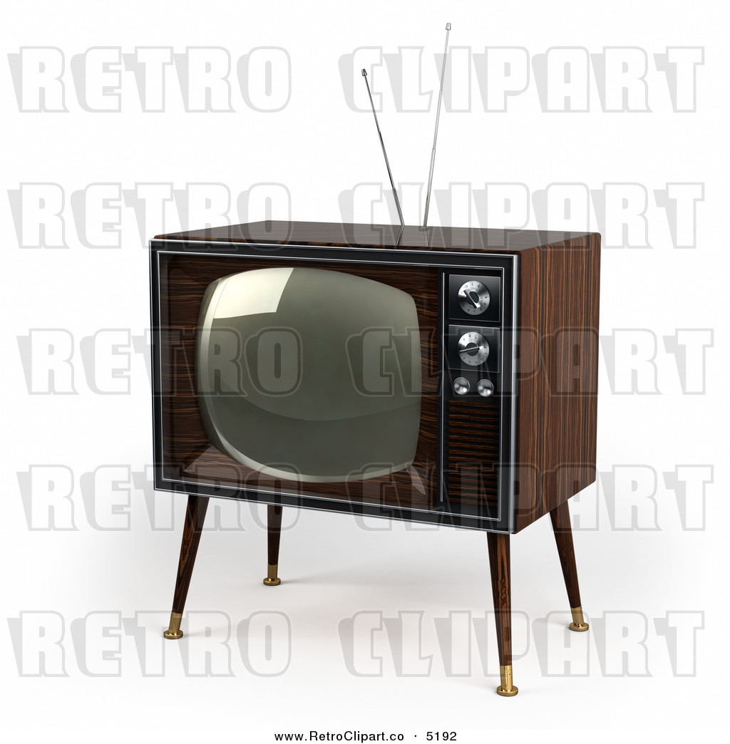 Resolution Retro Clipart Of A 3d Box Television  This Tv Stock Retro