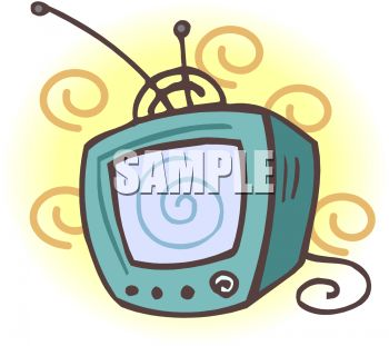 Retro Television Set   Royalty Free Clipart Picture