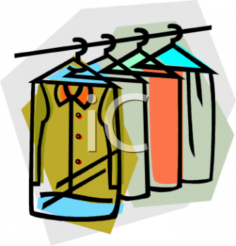 Dry Clean Clothes Clip Art