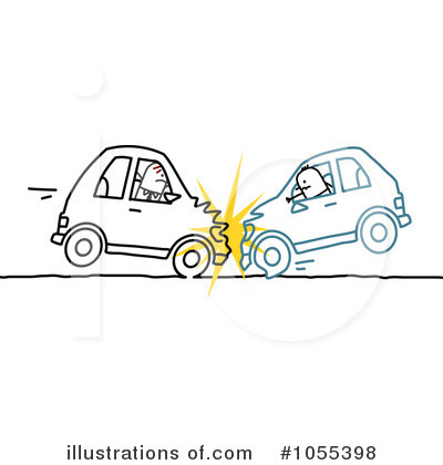 Royalty Free  Rf  Car Wreck Clipart Illustration By Nl Shop   Stock