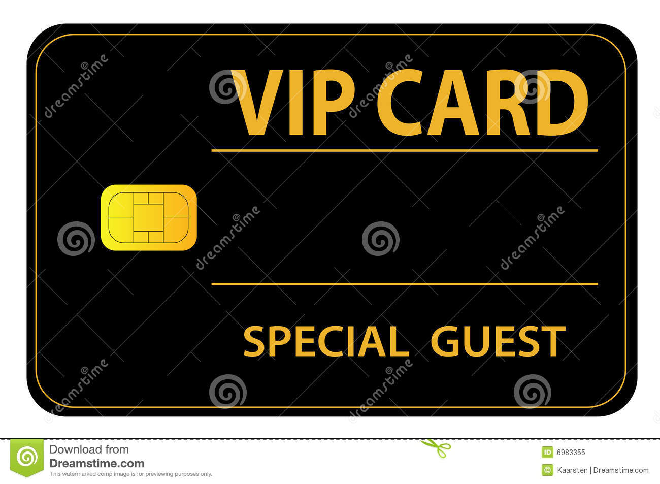 An Illustrated Vip Card For A Special Guest