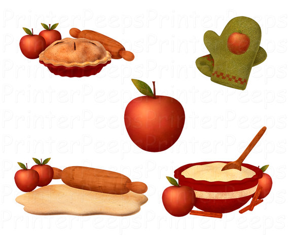 Clip Art Apple Pie Clipart apple pie clipart kid scrapbook pack digital scrapbooking rolling pin