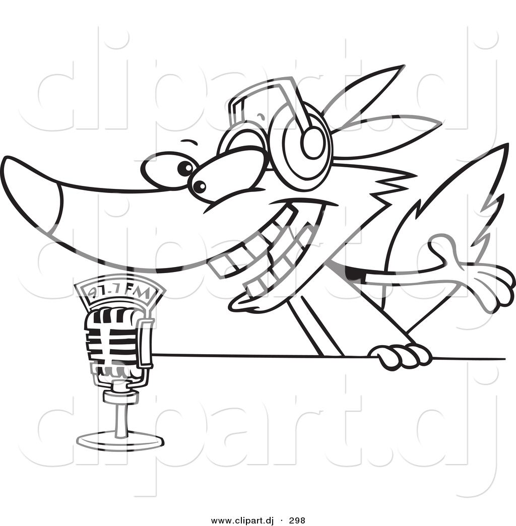 microphone outline clipart