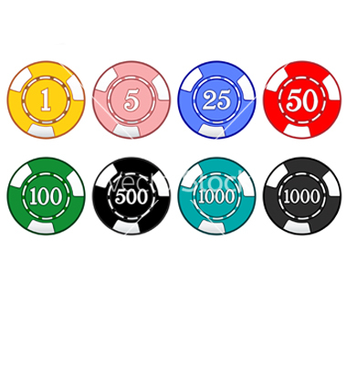 free casino chips black and white vector art of banner