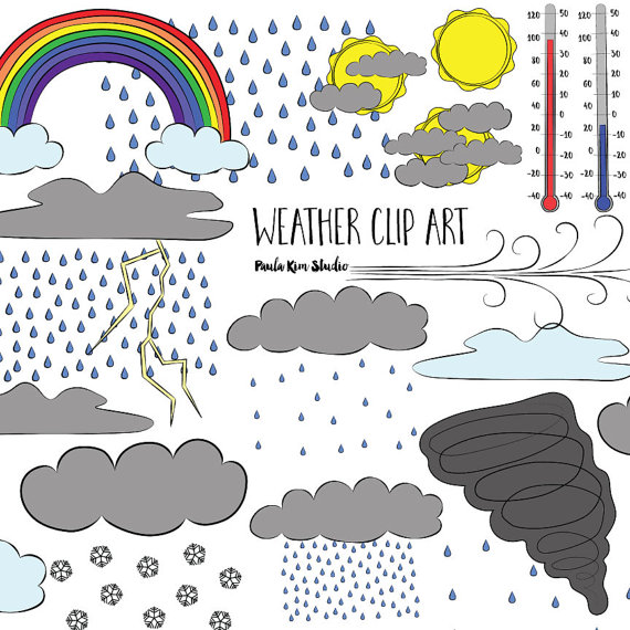 Digital Download Weather Clipart Commercial Use Weather Clip Art