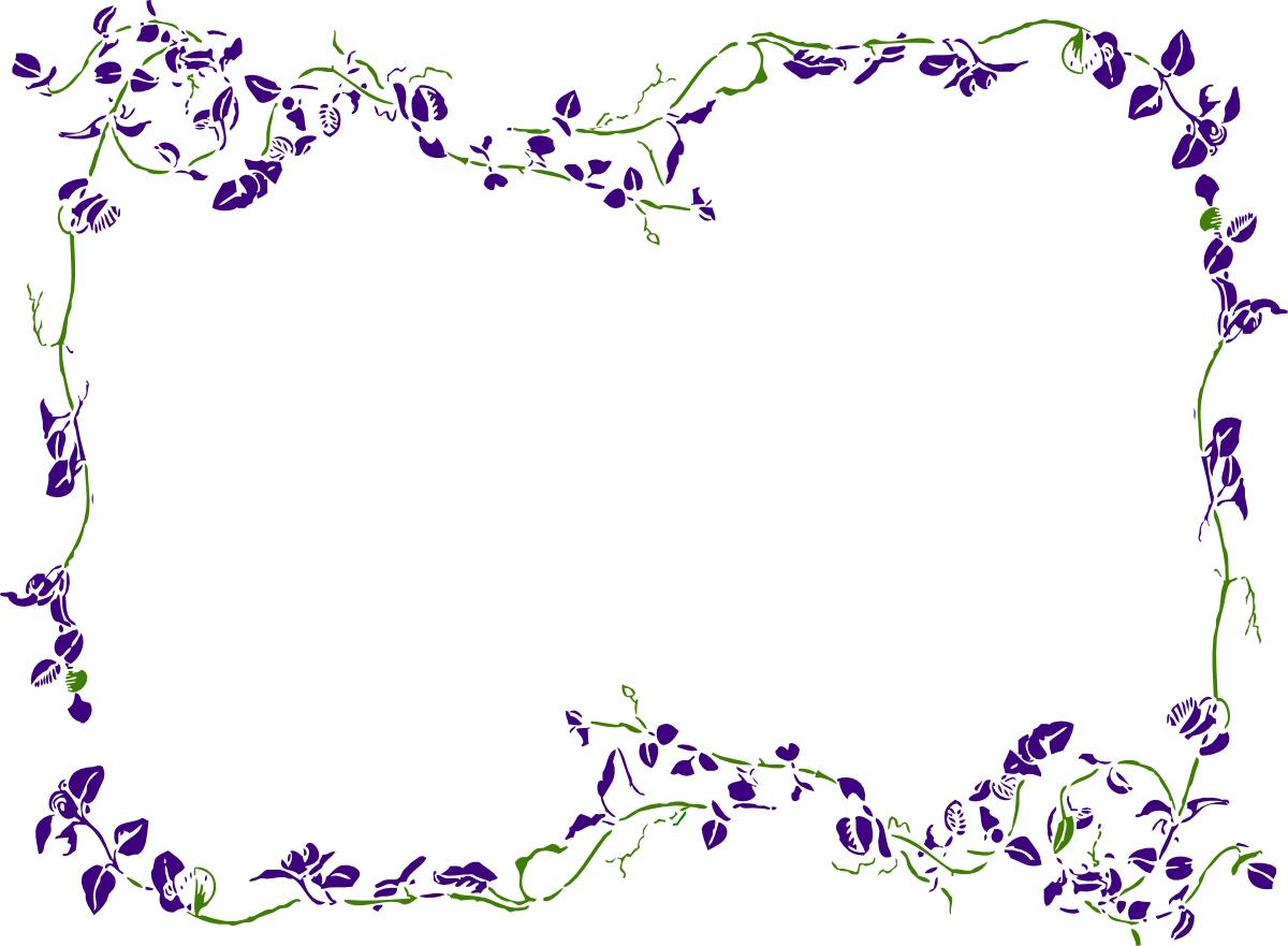 purple rose border clipart clipart suggest