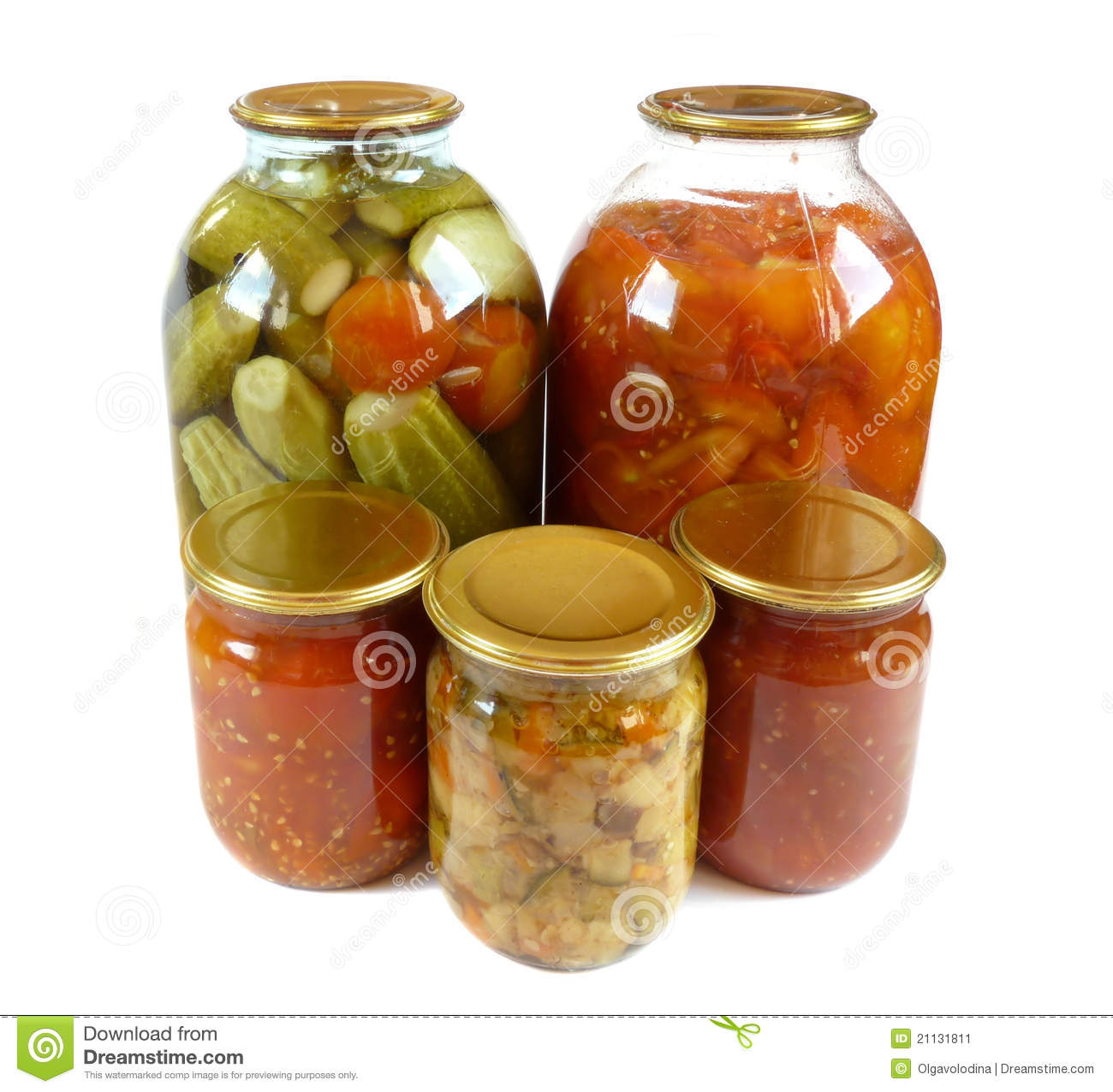 Home Canning  Pickles Is Isolated Stock Image   Image  21131811