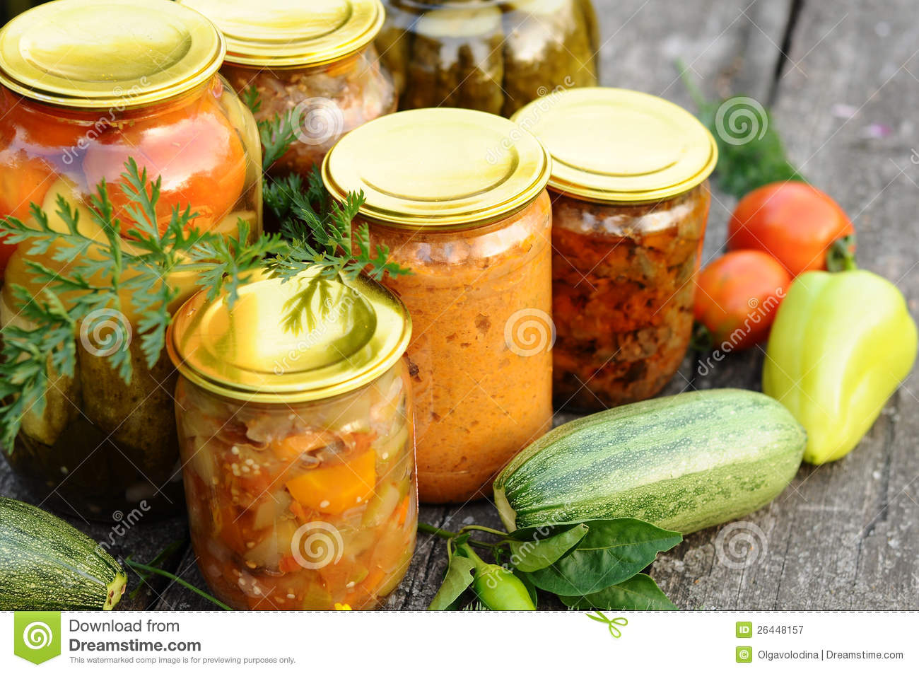 Homemade Canning Canned Vegetables And Flowers