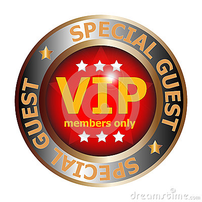 Illustration Of A Special Guest Vip Badge Isolated On A White