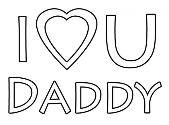 Love You Daddy Coloring Page More Clip Art Free Daddy Coloring Happy
