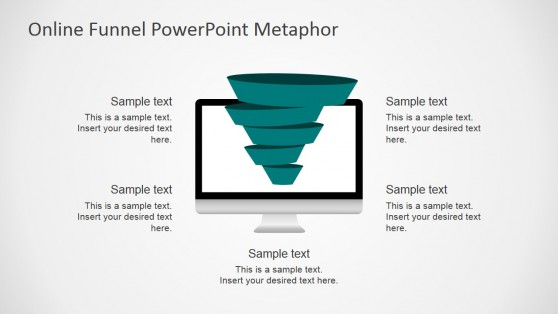 Online Sales Funnel Metaphor Shapes For Powerpoint   Slidemodel