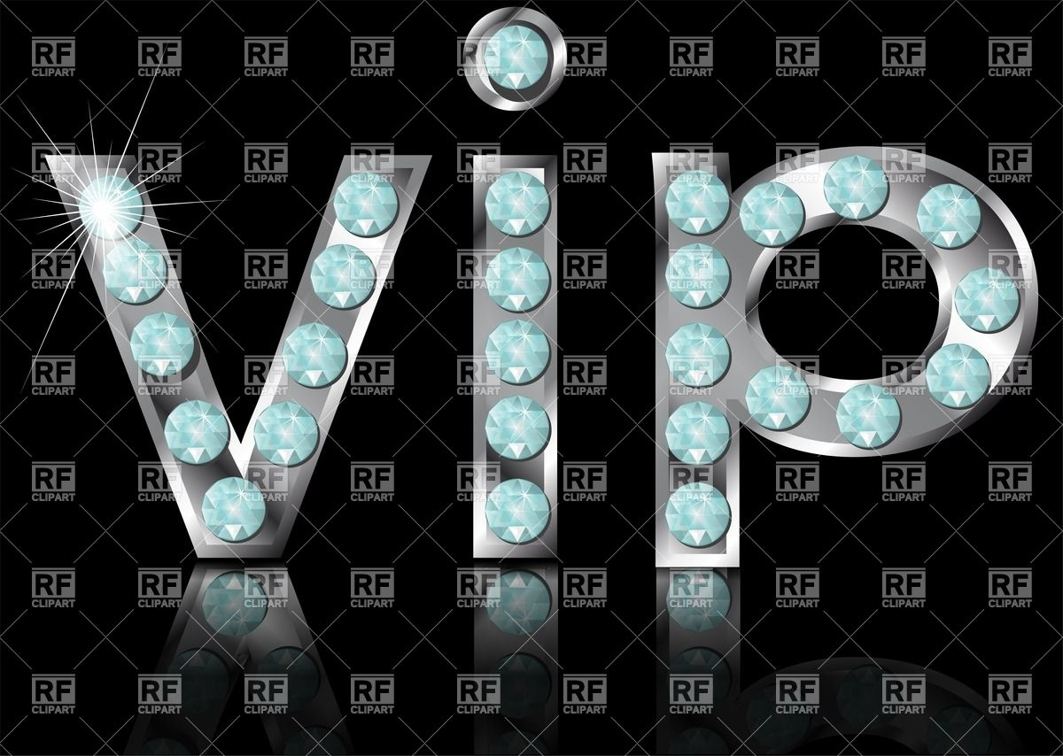 Sign Vip On Black Background Download Royalty Free Vector Clipart