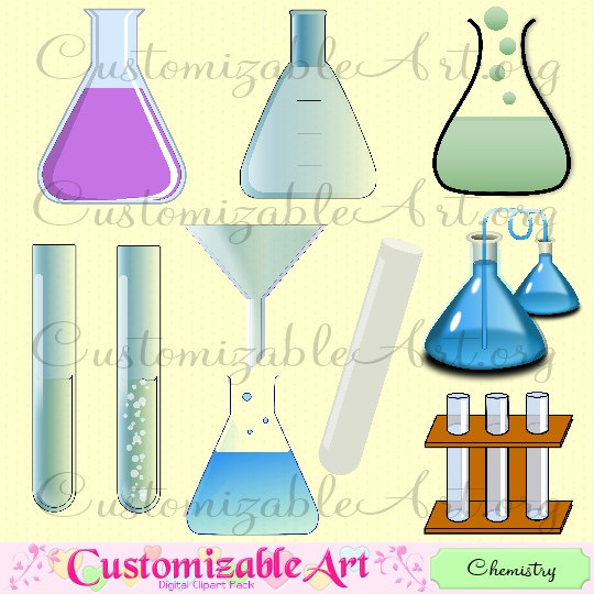 Teaching Lab Clipart Flask Test Tube Funnel Chemical Reaction Images