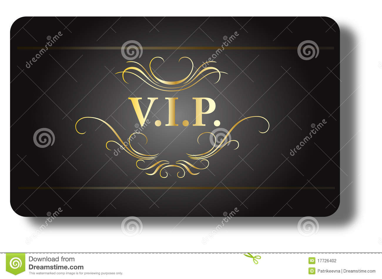 Vip Guest Card Isolated On The White Background