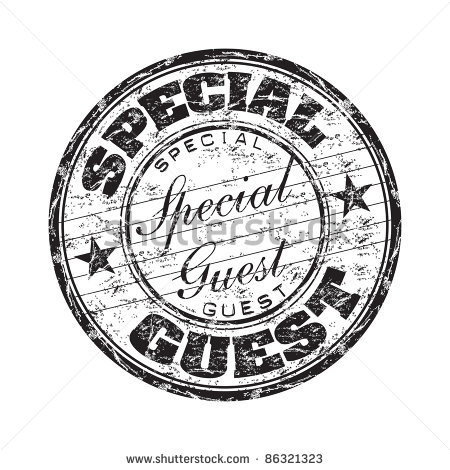 With The Text Special Guest Written Inside The Stamp   Stock Vector
