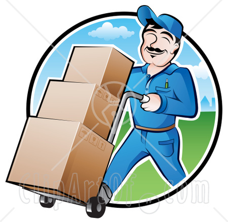 Delivery Man Clipart - Clipart Kid
