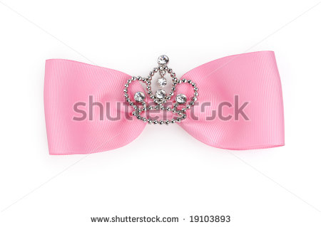 Stock Photo Fancy Pink Bow Isolated On White Background With Clipping